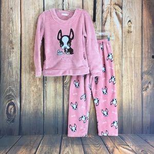 💸Cute fleece pajamas set